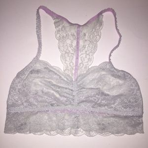 Victorias Secret PINK Grey Lace Bralette M
